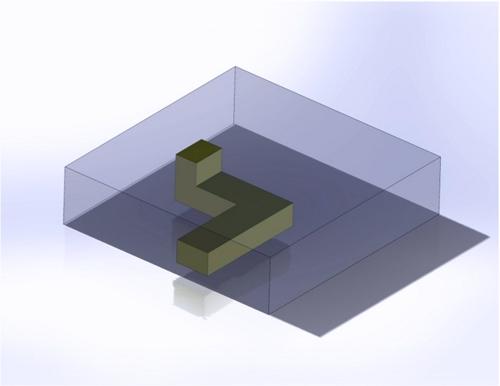 CAD-Darstellung eines LTCC mit leitfähigen Strukturen