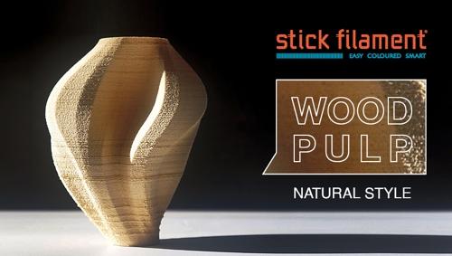 Stickfilament Wood Pulp