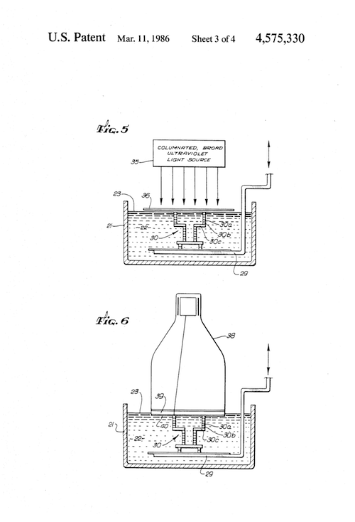 Stereolithography_Patent_US4575330