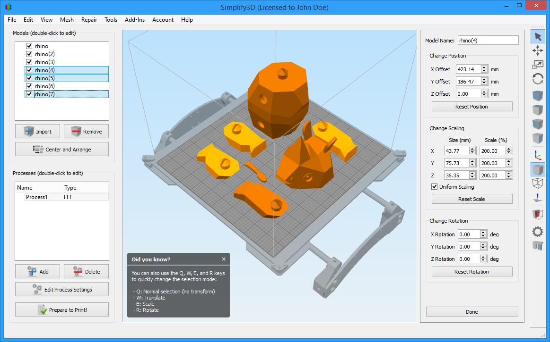 Simplify3d Interface Updates