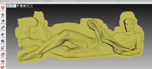 "3D-Modell des ""Lesers"" in Artec Studio"