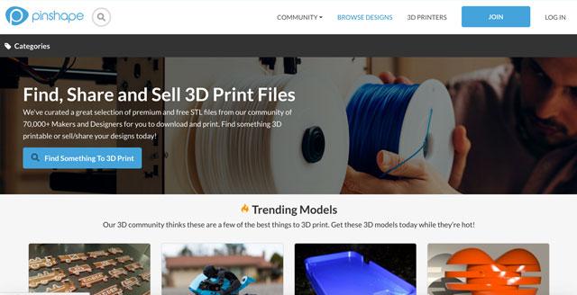 Pinshape Screenshotv - 3D-Druck-Modelle Plattform