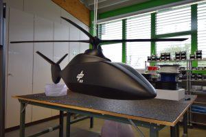 Hubschraubermodell Highflow-Druckkopf