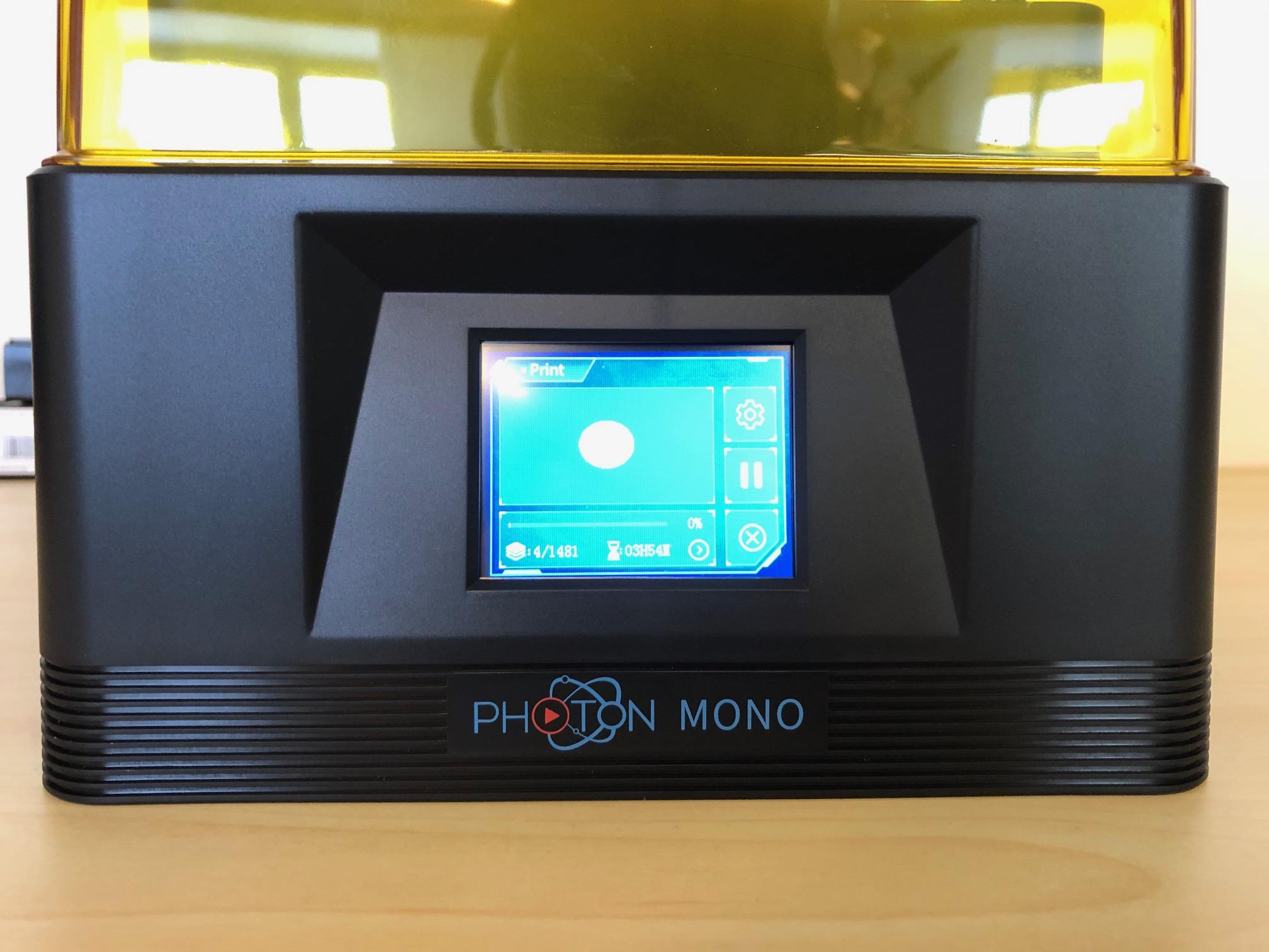 Touchscreen des Anycubic Photon Mono